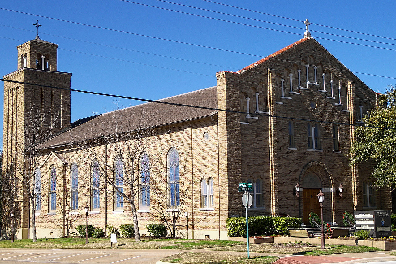 Saint Anthony's Catholic Church was built in 1927.