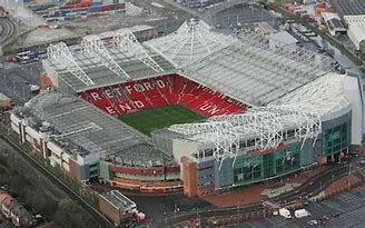 View from above of Old Trafford