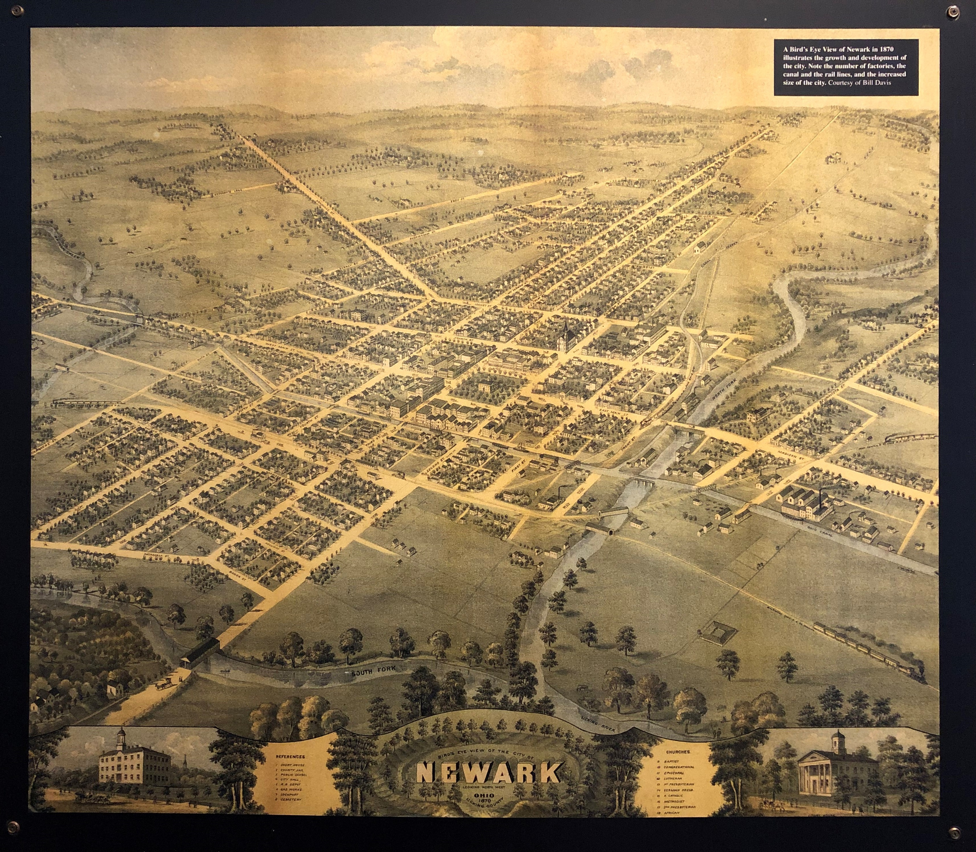 As you can see from this 1870 map of Newark, much of what is now part of the city was once open farmland. Much of the city's economy was associated with agriculture.