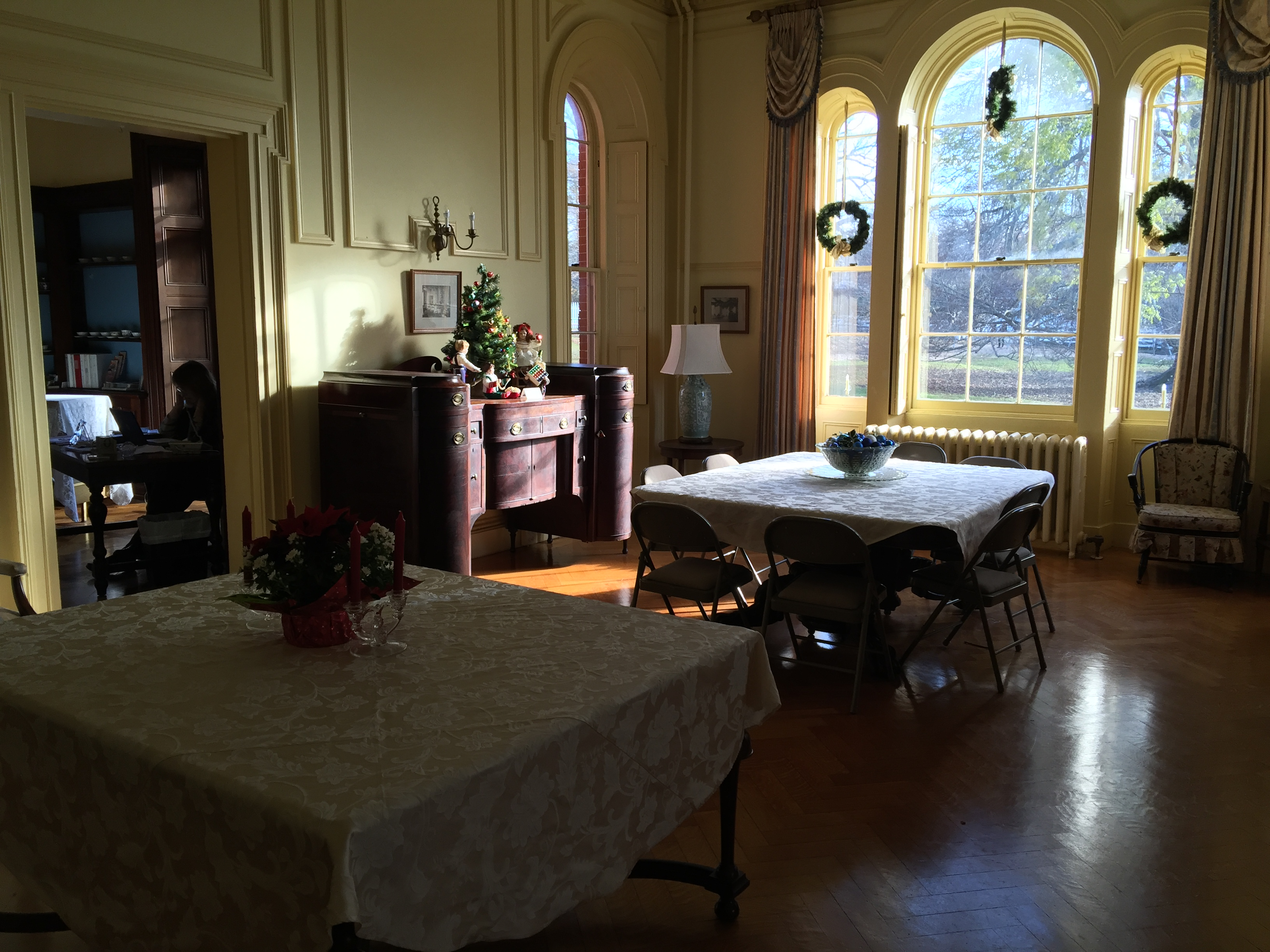 A former parlor within the Edward King House Senior Center.