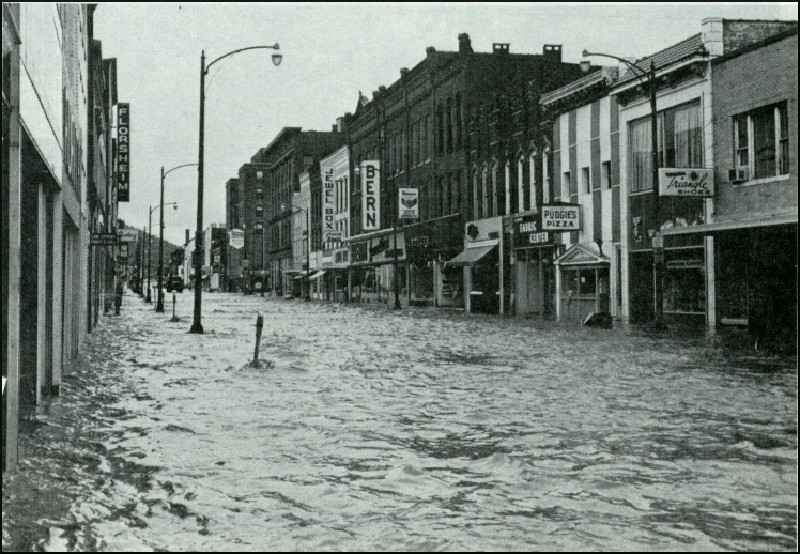 The Gaffer Districts Market Street Flooded