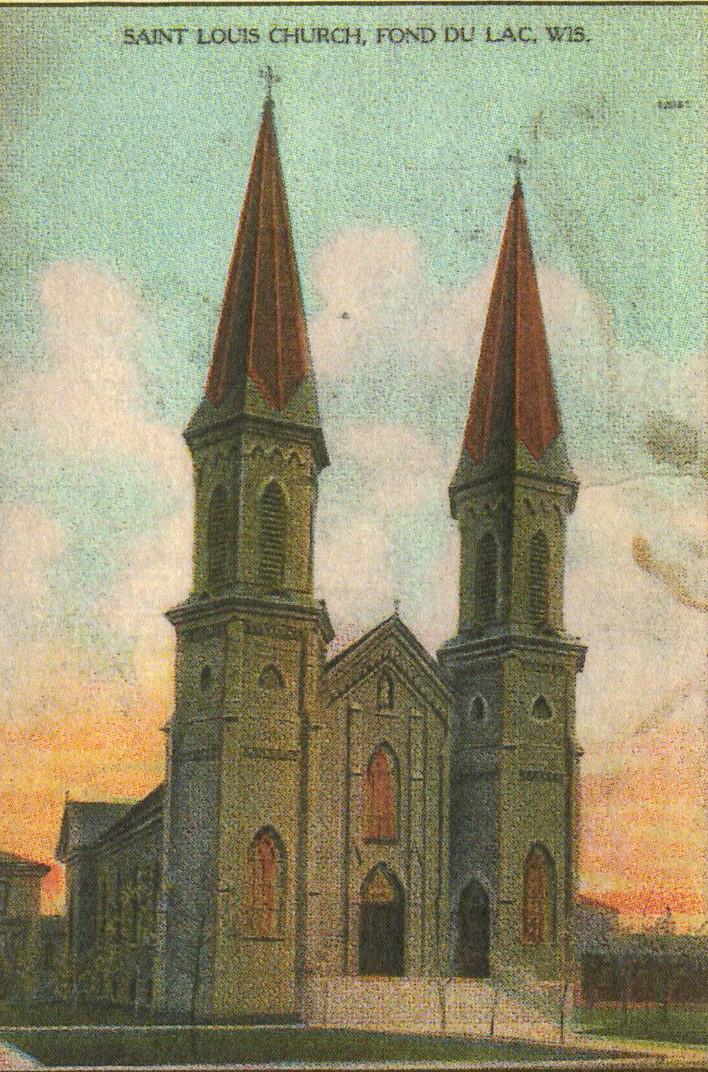 Artist's rendering of St. Louis Church, c. 1910.