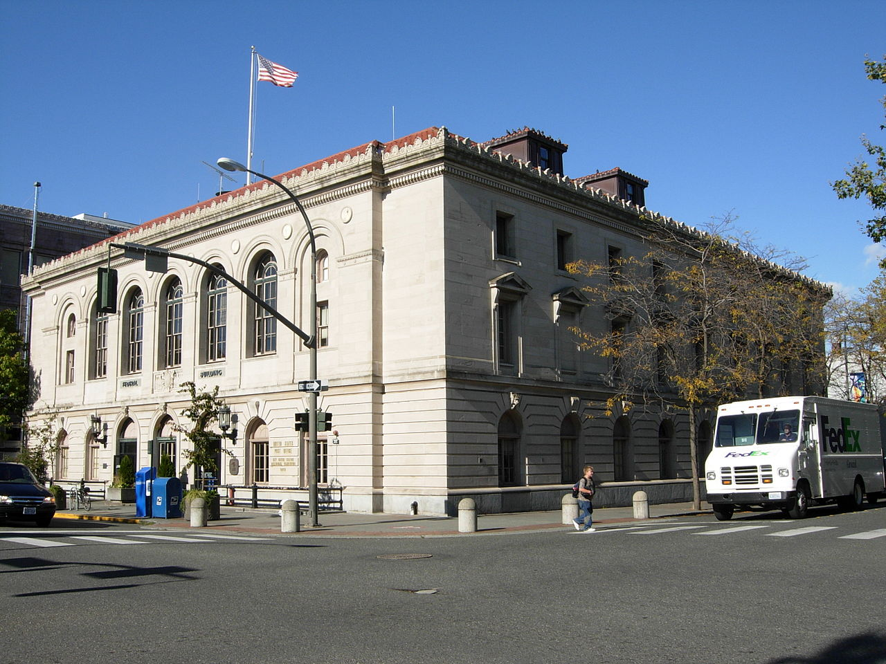 The former U.S. Post Office Courthouse was built in 1913 and is the finest example of Second Italian Renaissance Revival architecture in the city.