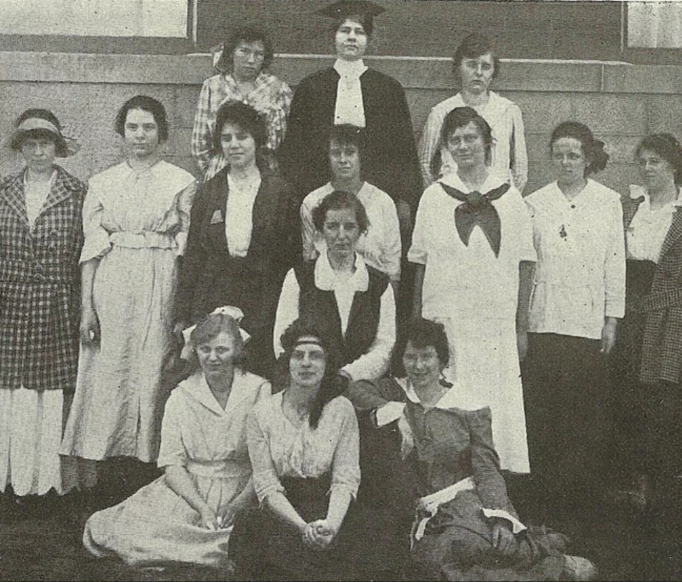 KCS students in the university's 1917 log book