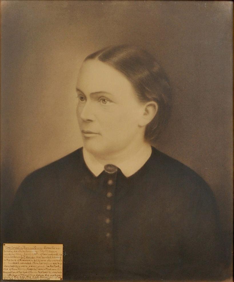 Portrait of Mrs. Cordelia Perrine Harvey, the wife of former Wisconsin Governor, Louis P. Harvey.