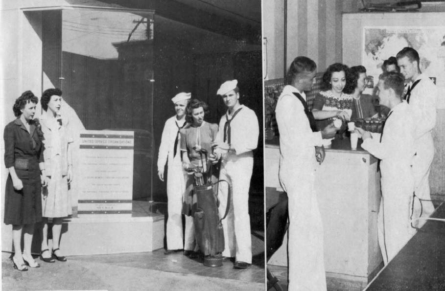 USO Scenes, N. Trenton Street, c. 1944-45
