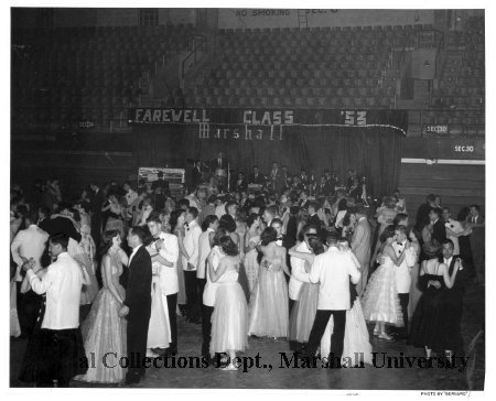 Marshall College Farewell Dance at Memorial Field House in 1953