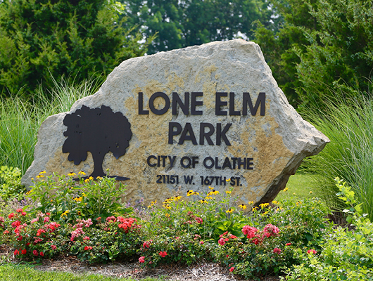 Lone Elm Campground, now Lone Elm Park