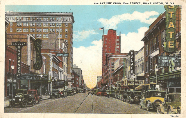 A postcard showing 4th Avenue theaters, including the Strand at left, circa late 1920s
