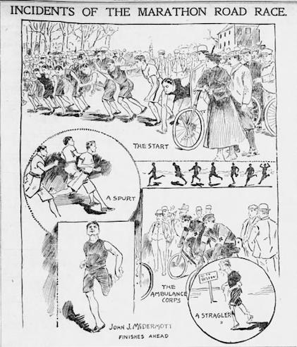 Boston Globe Clipping of First Boston Marathon (1897)