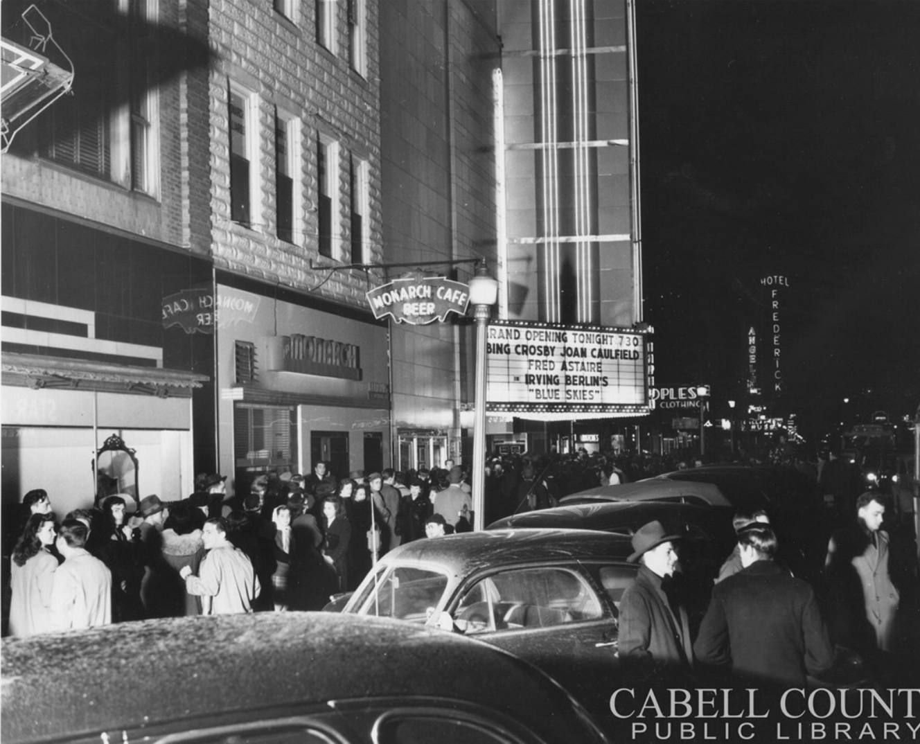 The Tipton Theater on its opening night, March 1947