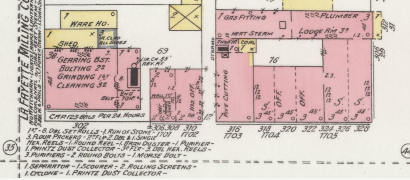"Underwood Building (""Ins. Off."") connected internally to new brick building to west by 1899 (Sanborn Map Company p. 11)"
