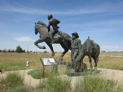 The Pony Express statue was created by artist and Utah native Avard Tennyson Fairbanks.