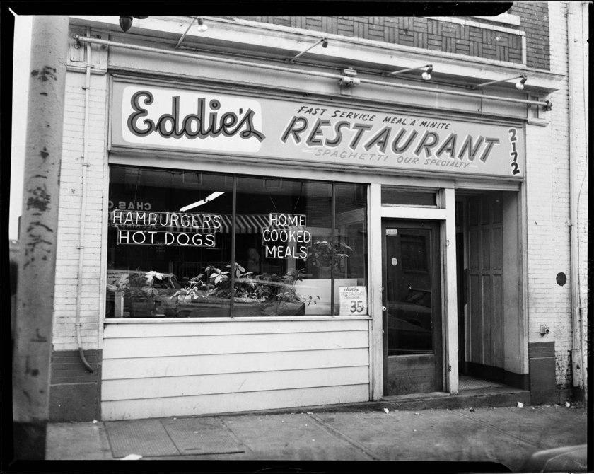 Exterior of Eddie's Restaurant (1964-1975)
