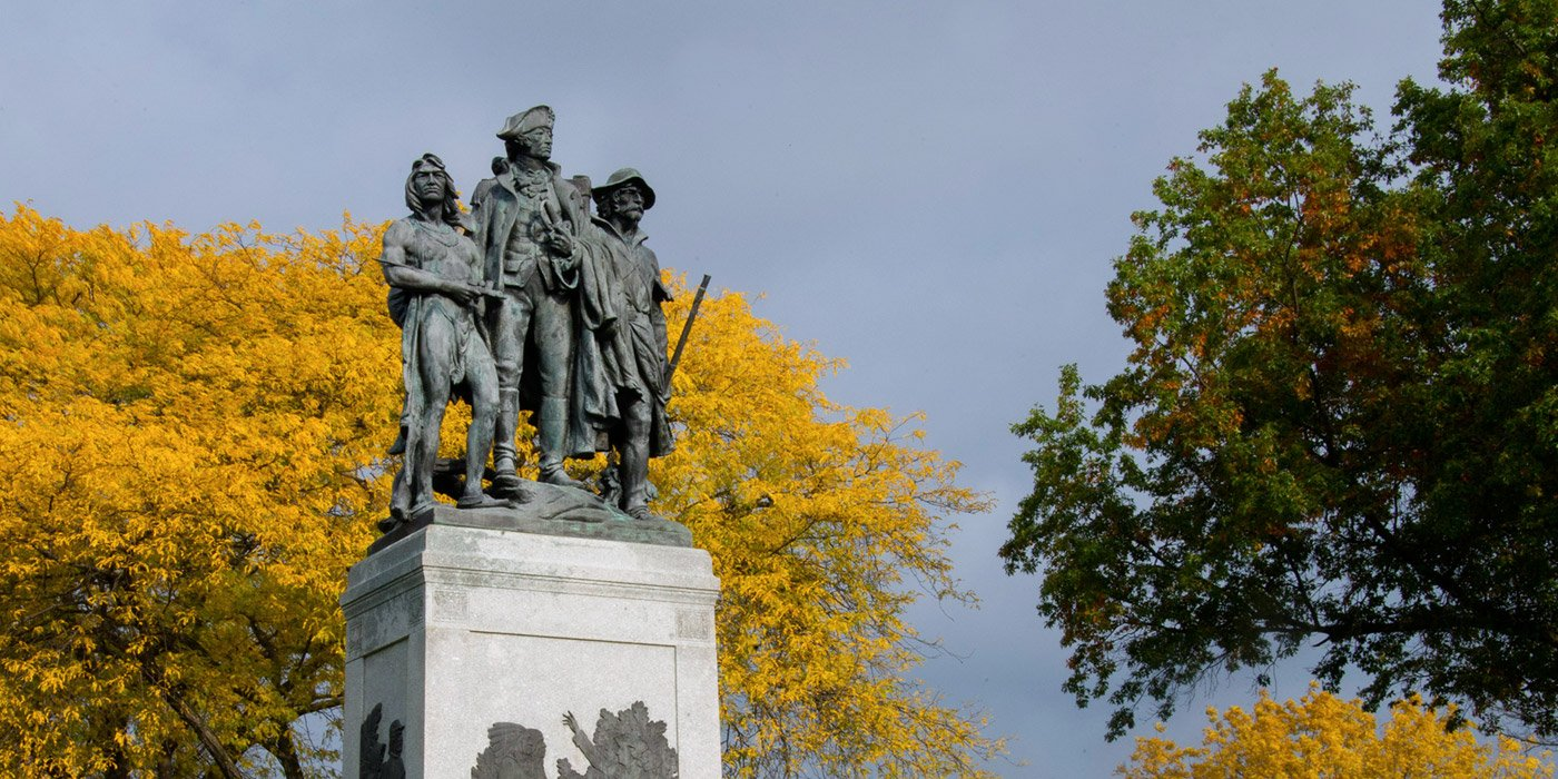 Closeup of the monument. Photo: Metroparks Toledo