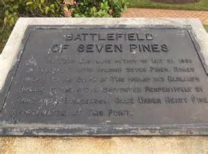 The Marker for the battle of Seven Pines