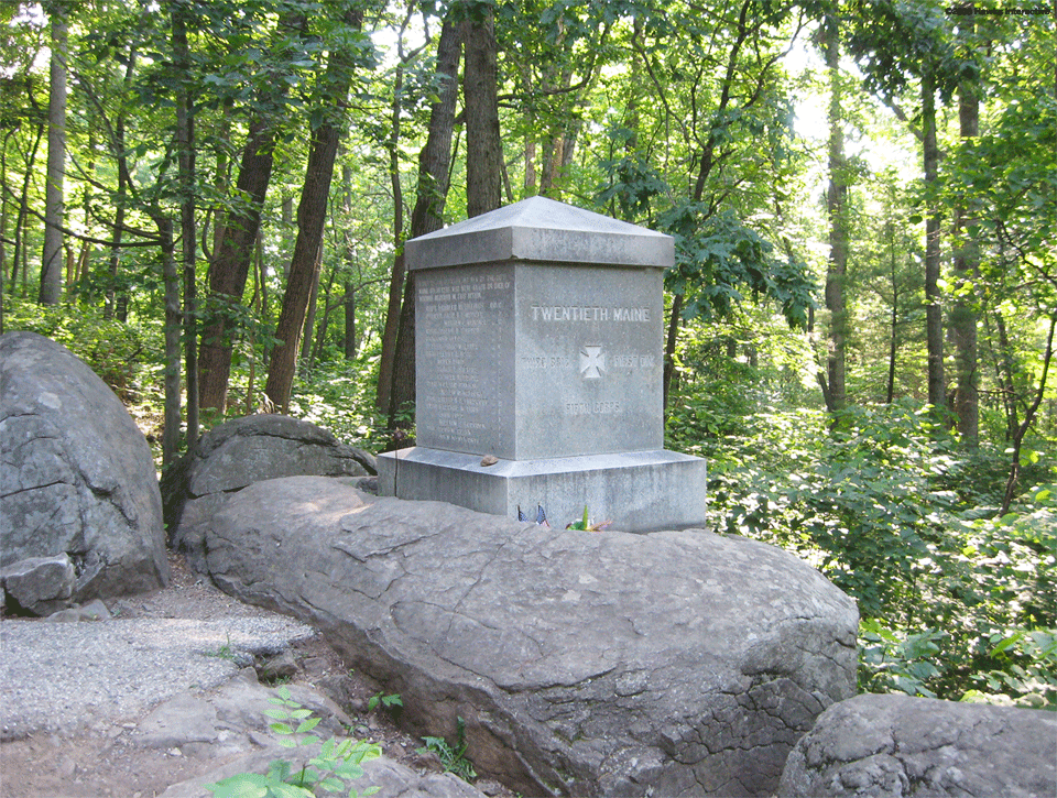 A side view of the monument