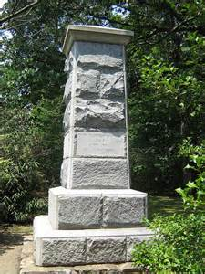 Monument erected to show where Stonewall was lifted from his horse. In 1888, 5,000 people attended the dedication of this monument.