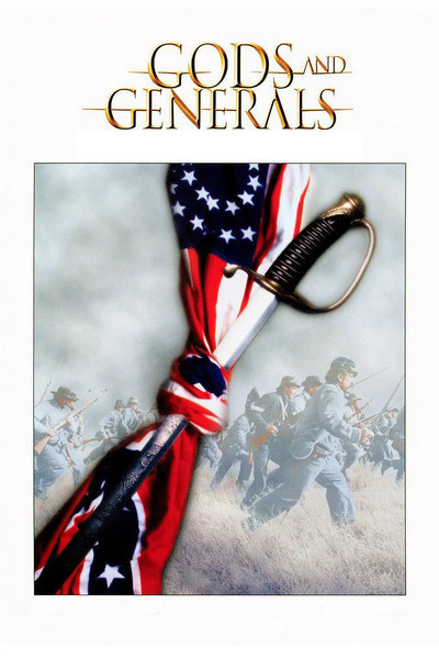 DVD cover for the 2003 film, Gods and Generals