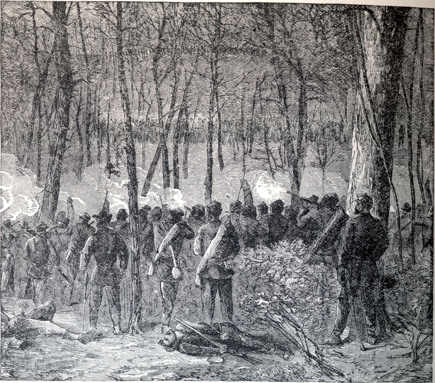 Sketch for Harper's Illustrated made during the battle