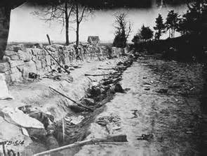 The Sunken Road behind the Stone Wall