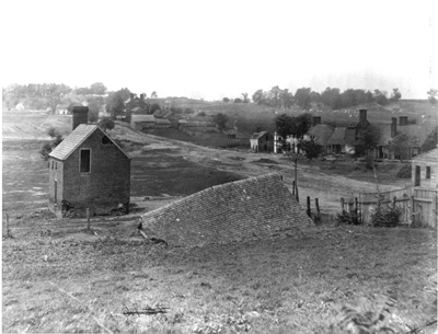 Circa 1860-1865, this photo is of a portion of the grounds the Union had to march, then charge, through in order to reach Confederate lines in the distant center...while under fire from artillery.