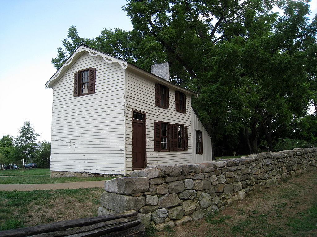 The Innis House. The battle raged all around the house. Damage taken during the battle is still visible today