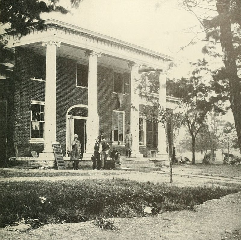 The Marye House, AKA Brompton, taken around the time of the battle