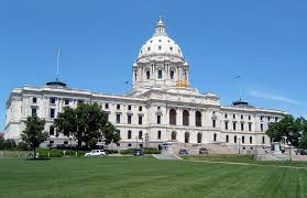 The Minnesota State Capitol features a limestone interior made from local stone. The interior also features marble from all around the world.