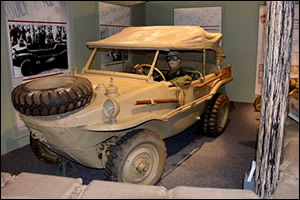 "Schwimmwagen that is part of the ""Subject to Recall"" exhibit at the museum."