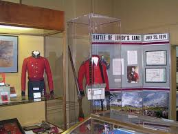 Uniforms on display in the Battle Ground Hotel Museum