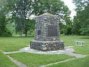 This monument was built using stone from local boulders in remembrance of the Battle of Buffington Island.
