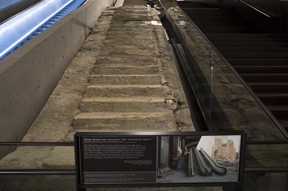 Survivors' Staircase in September 11 Memorial and Museum