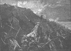A depiction of the battle