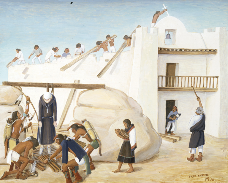 Priest Being Put to Death in Pueblo Rebellion