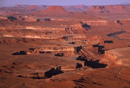 Canyonlands National Park was established in 1964. This view overlooks the Green River.