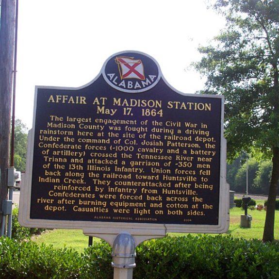 Affair at Madison Station Historical marker