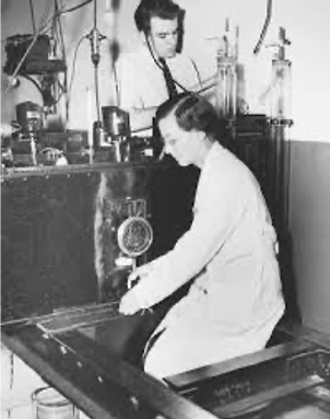 Seibert pictured in a lab from her time working on that would be later used to develop the standard tuberculous test.