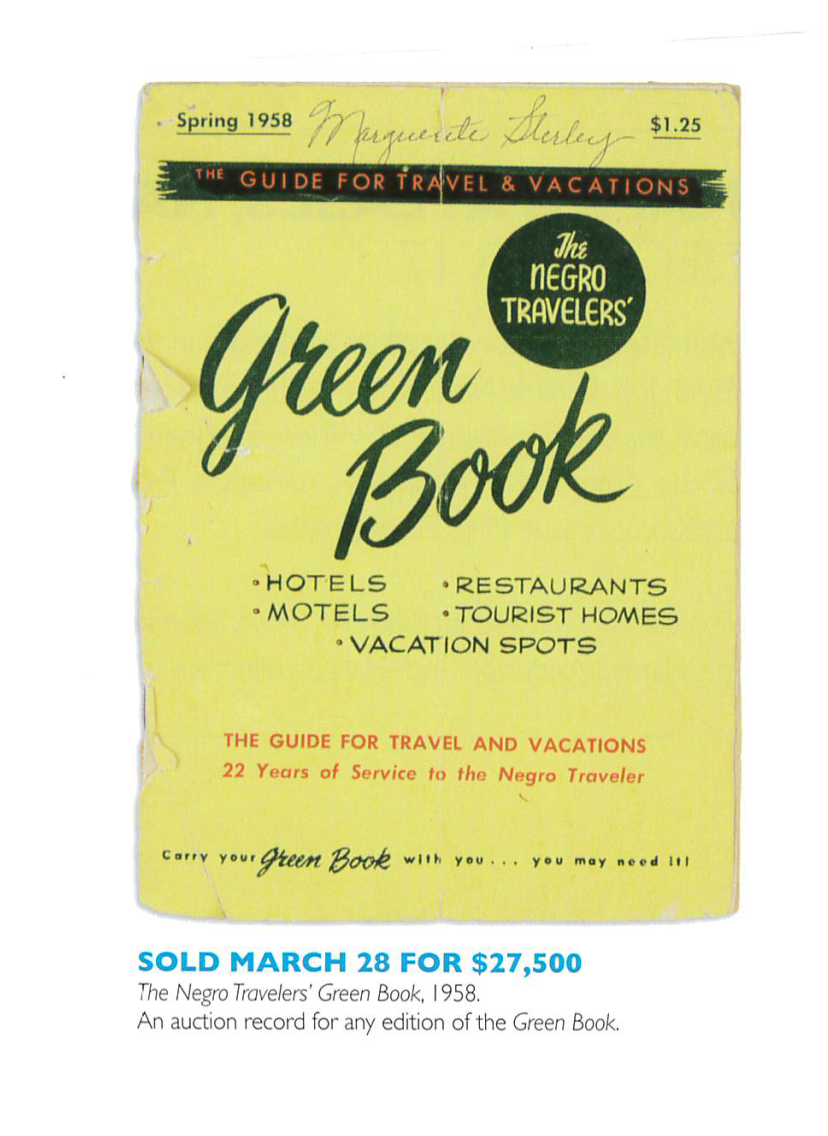 The Green Book that was sold