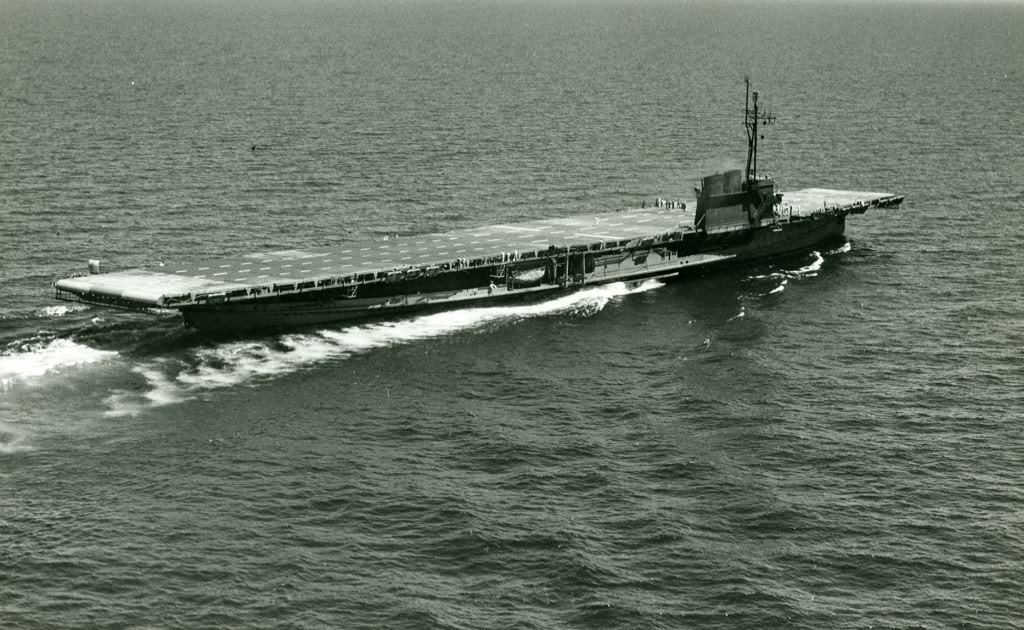 USS Wolverine (IX-64), one of two antiquated steam-powered paddleboats converted into makeshift aircraft carriers for training pilots and crews at the Navy Pier base during World War II.