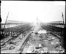 The pier as it appeared during construction in 1915.