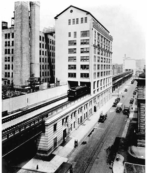 The building in 1936. In the 1960s it became home to the Westbeth Artists Community, which provides affordable housing and work space for low/mid-income artists.
