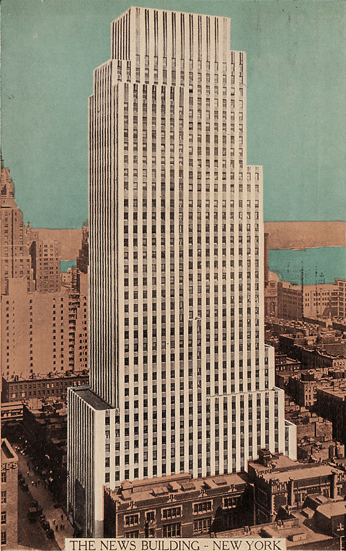 The Daily News Building was a landmark skyscraper and set the stage for many future New York buildings