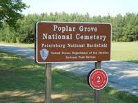 Entrance sign to the cemetery.