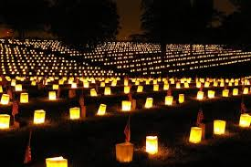 The luminary event at Poplar Grove National Cemetery.