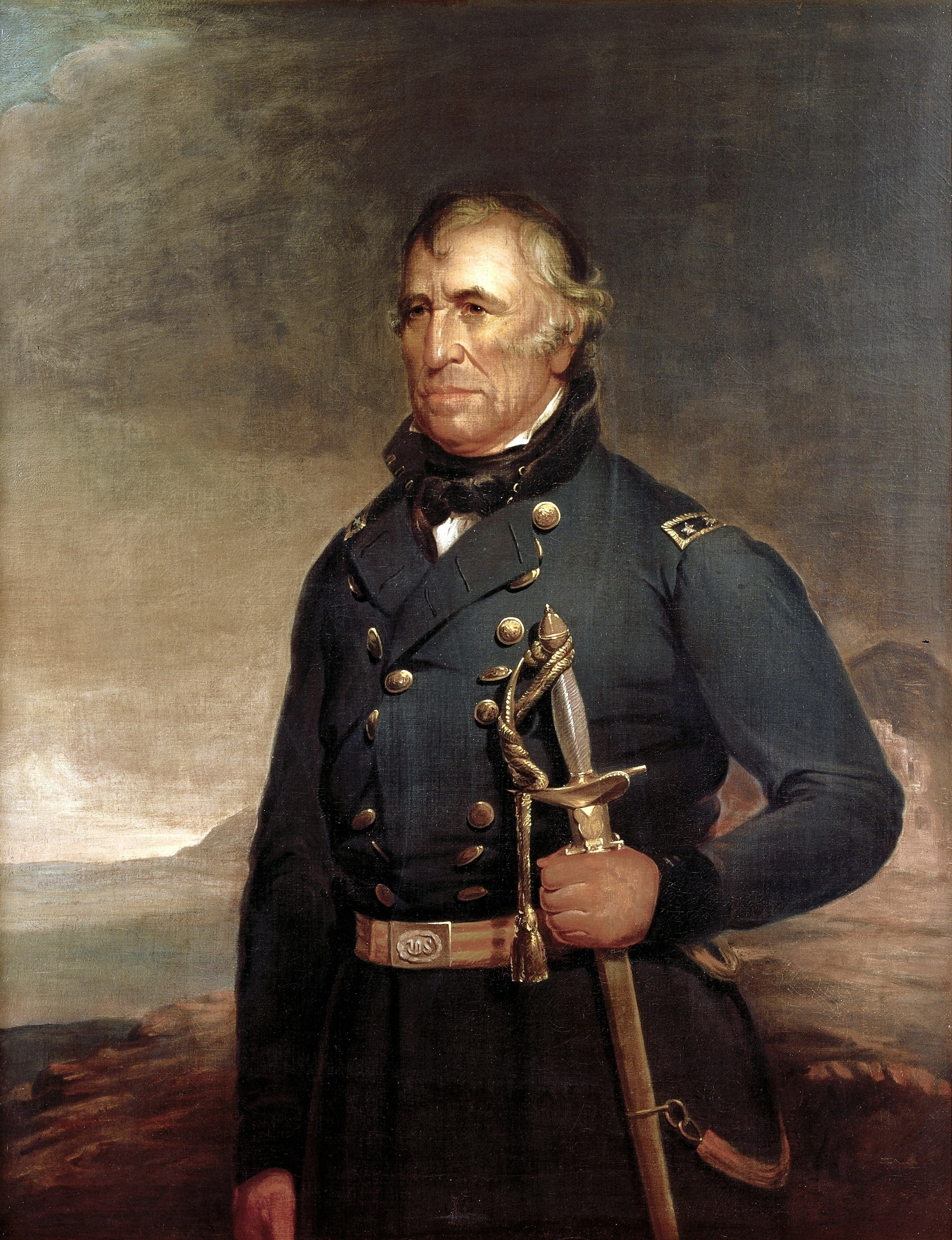 Portrait of U.S. General Zachary Taylor by Joseph Henry Bush circa 1848