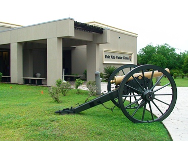 Replica Model 1841 6-pound field gun at the Palo Alto Battlefield National Historical Park