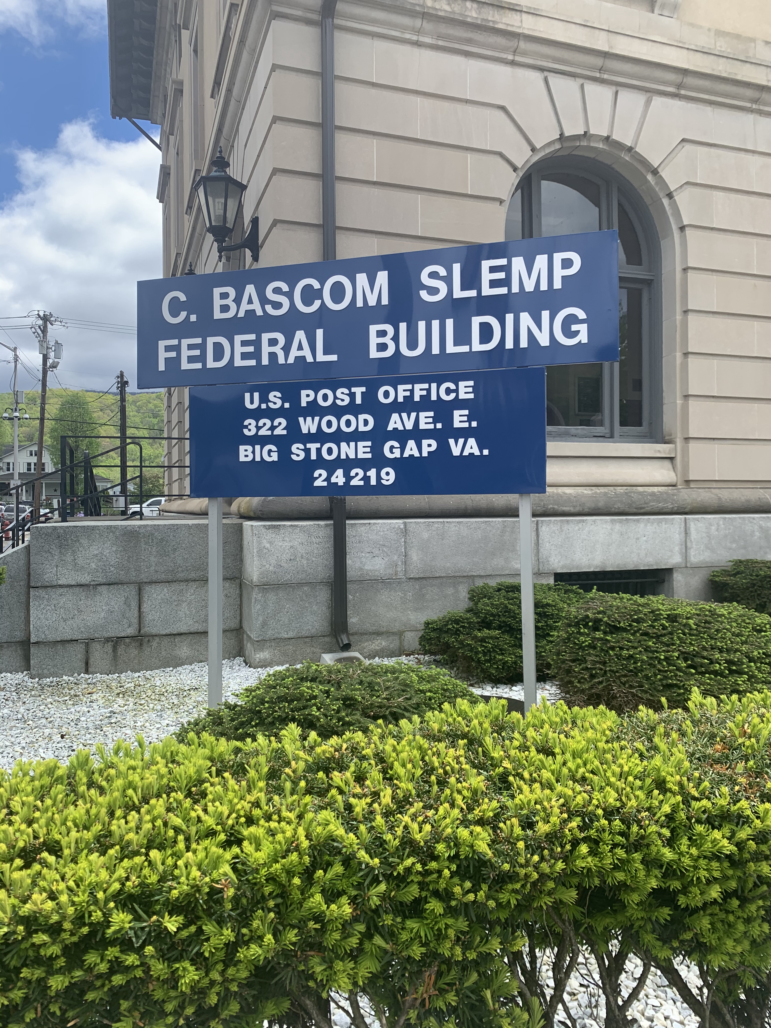 Front sign at Slemp Federal Building