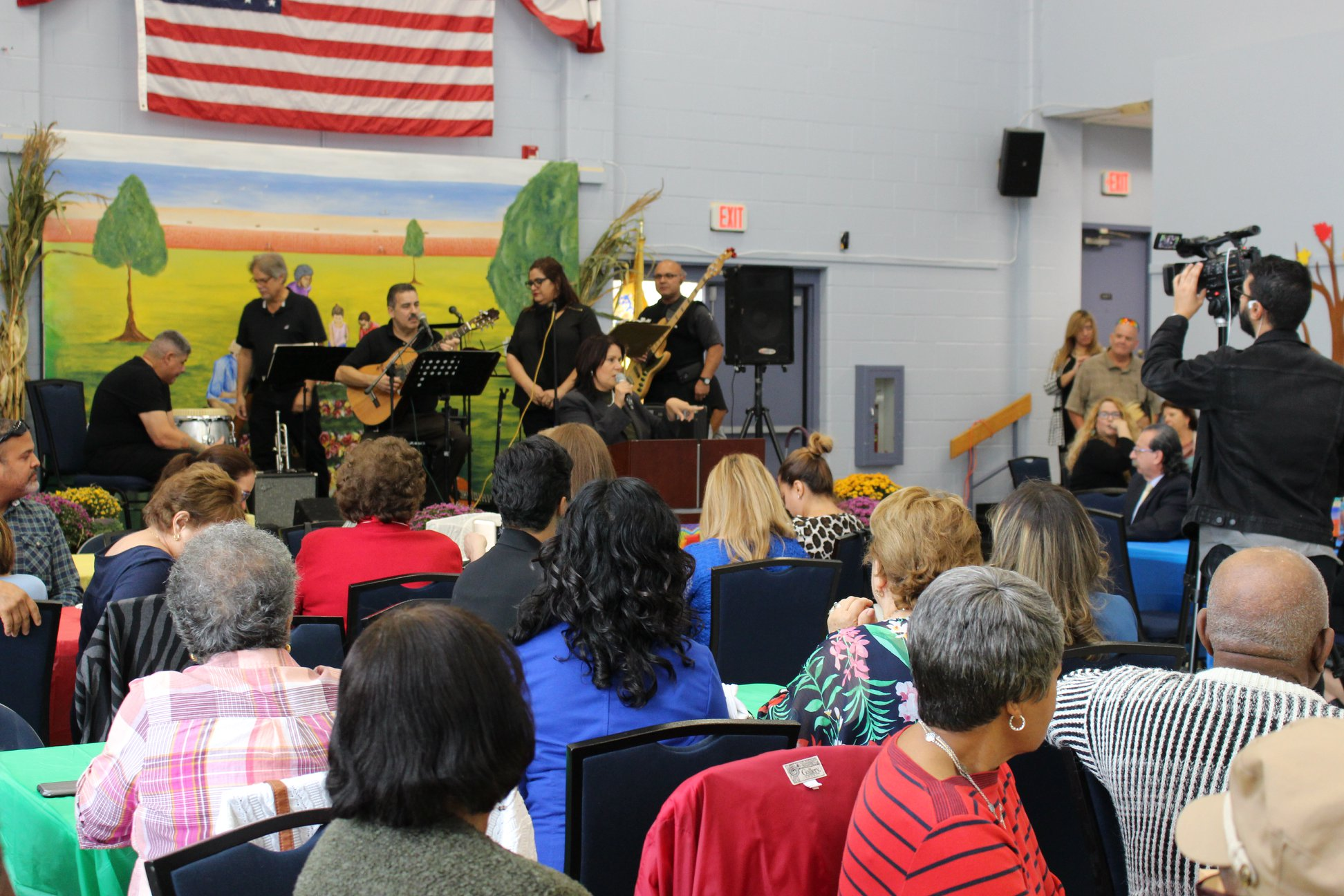 Hispanic Heritage Month Celebration hosted at the Community Center; students, senior citizens, and community members were all present for the celebration.