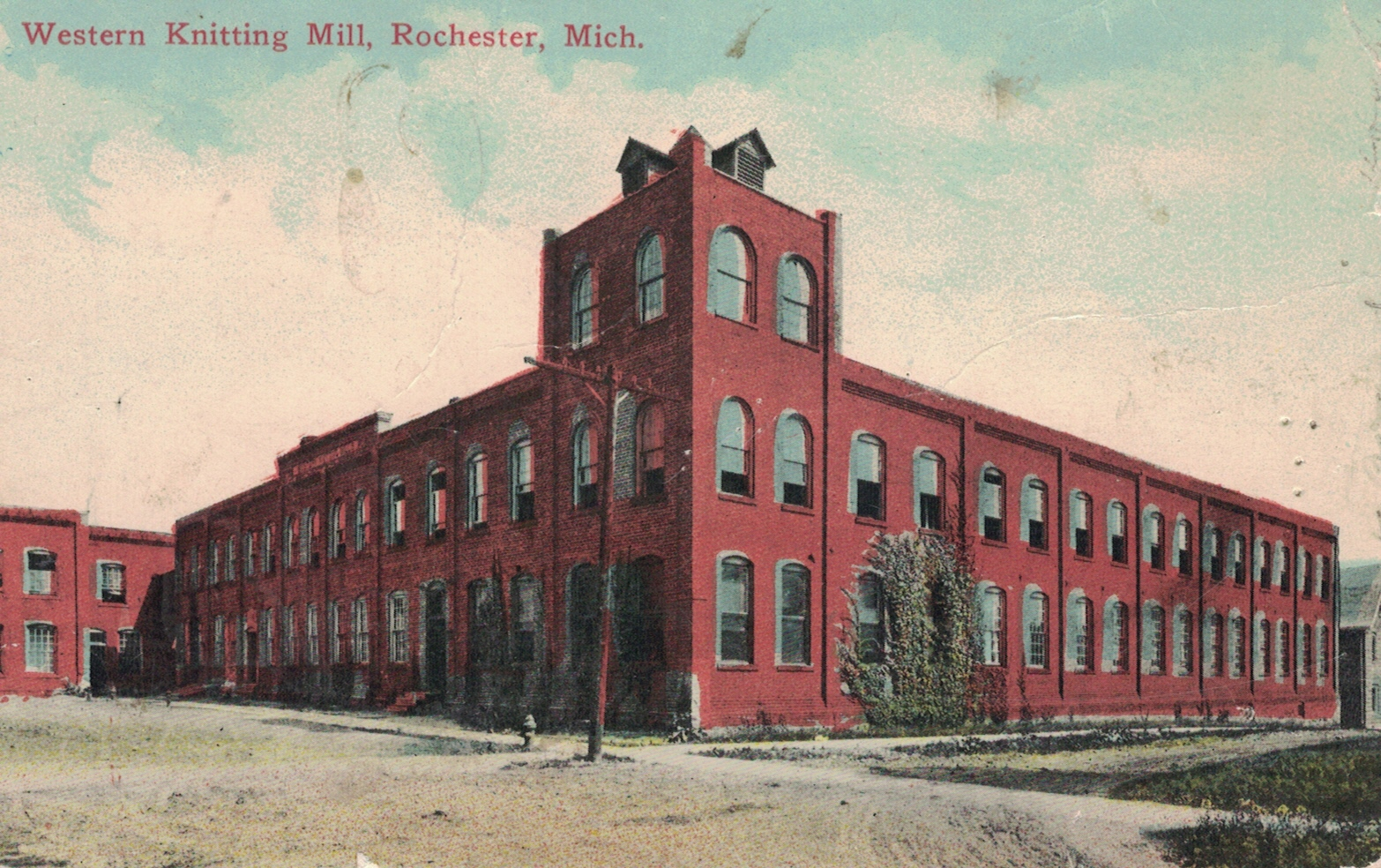 Western Knitting Mills, north and west elevations, ca. 1912